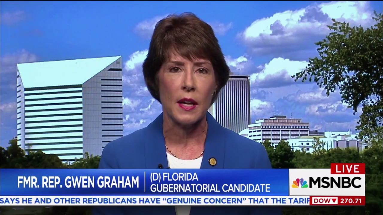 Gwen Graham, who is running for governor of Florida, talks about the school safety bill and what's happening in Washington on MSNBC.