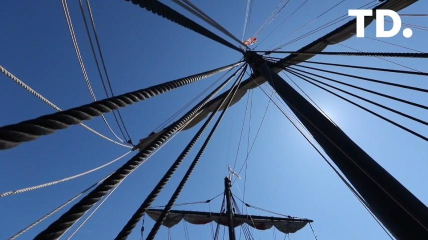 Kat Wilson, a Woodville resident, is a part of the crew that sails the Nina and Pinta replicas around the country. Today they pulled in to port at St. Marks.