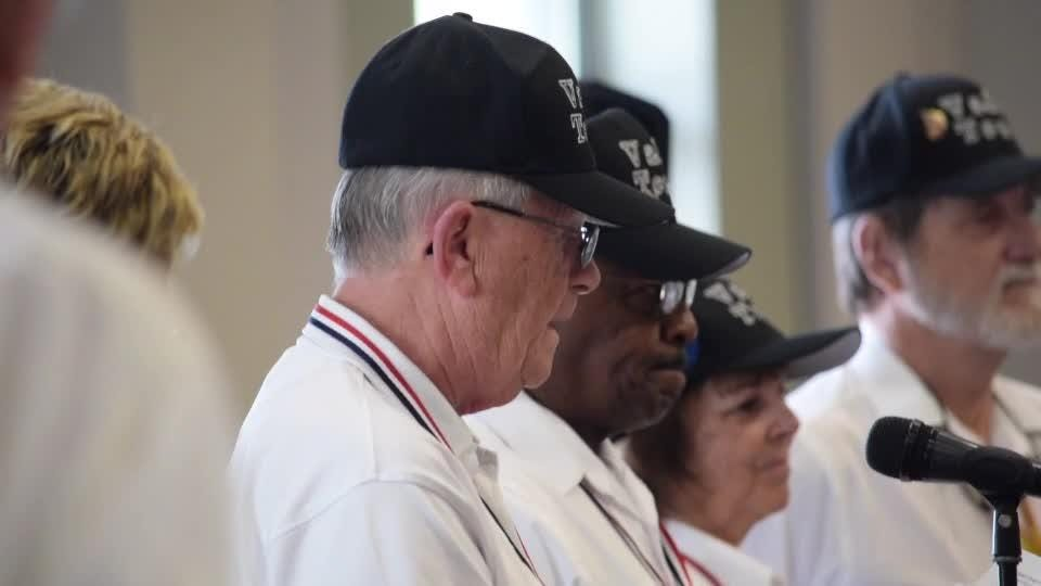 Army Staff Sgt. W. Richard Wynn was honored for his service in WWII