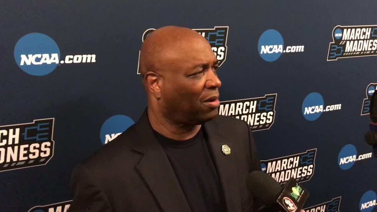 Leonard Hamilton speaks to the media after FSU's 75-70 win over Xavier.