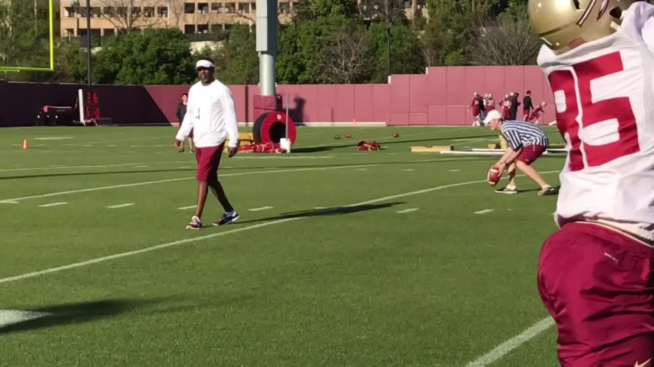Watch it: Willie Taggart coaching his first FSU practice