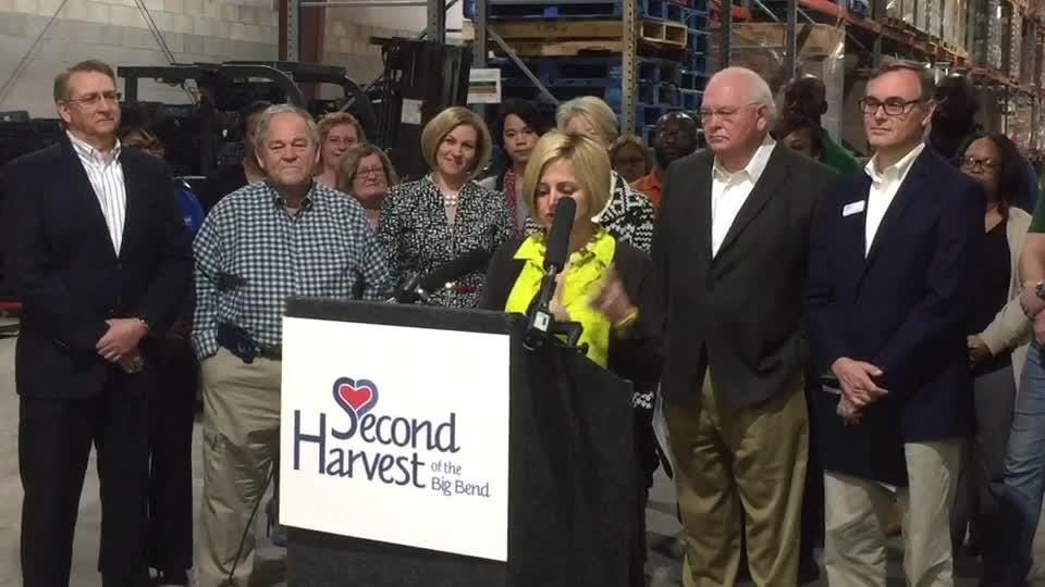 Tallahassee state delegation celebrate a $1 million grant to Second Harvest food bank