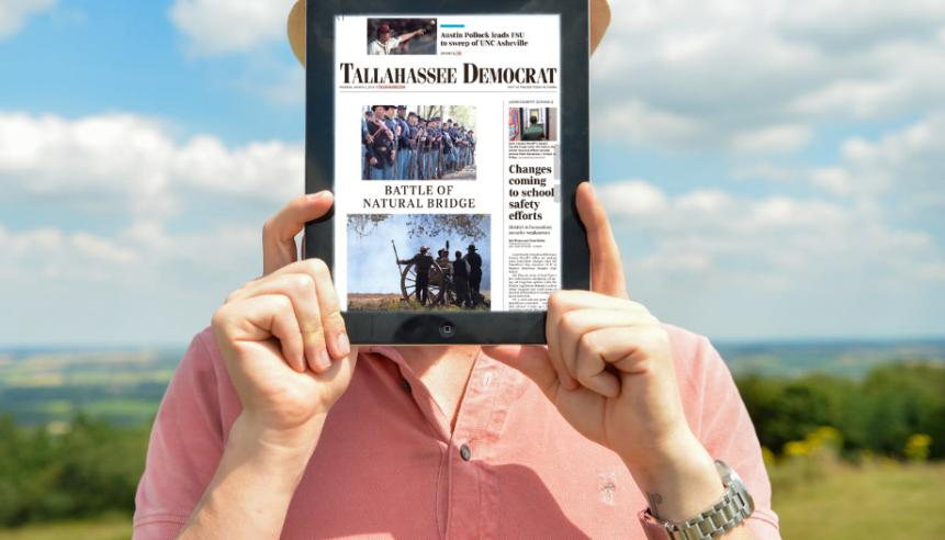 As a subscriber to Tallahassee Democrat, you can access a digital replica of our print edition, right on your phone! Download the e-Edition app TODAY from the Apple Store or Google Play store!