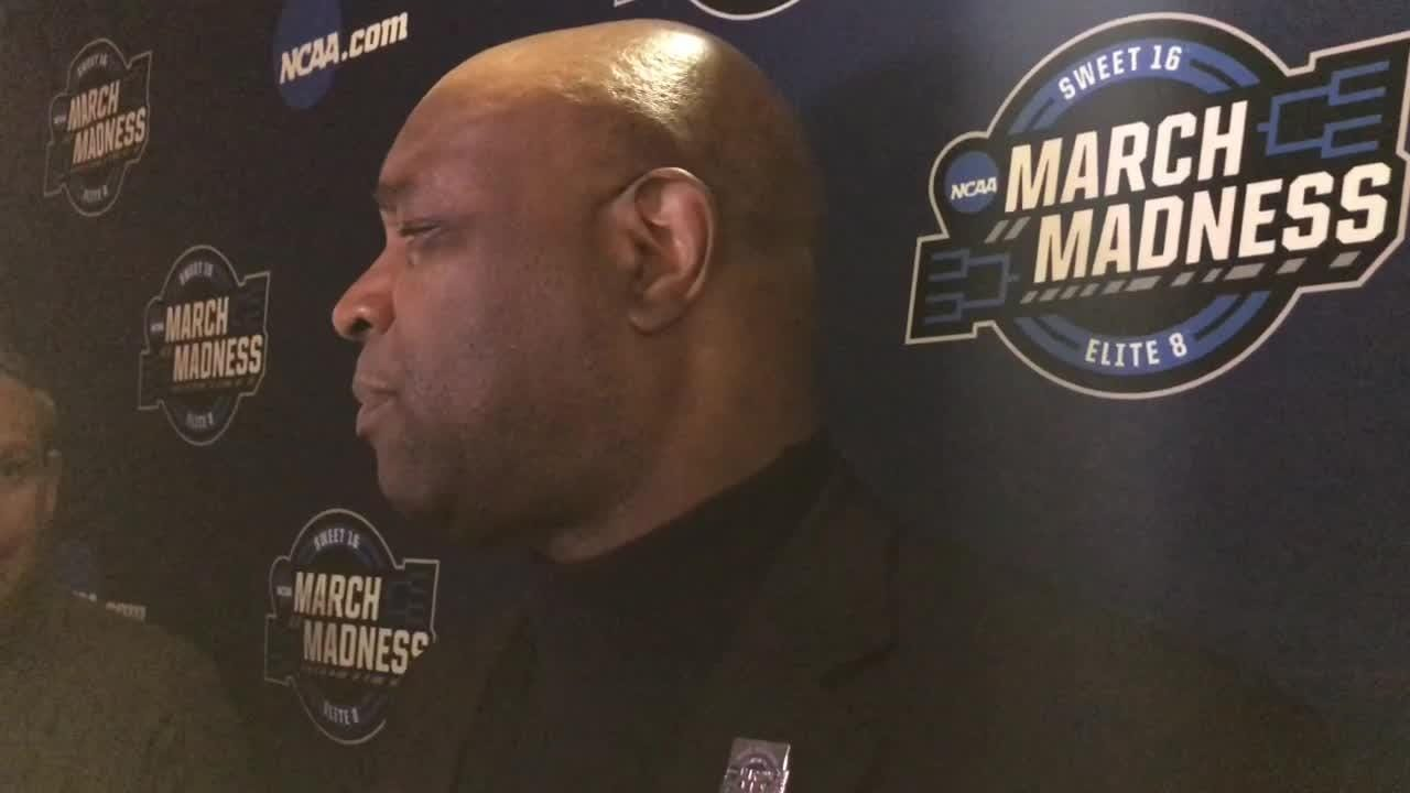 Leonard Hamilton speaks to the media after FSU's Sweet 16 win over Gonzaga.