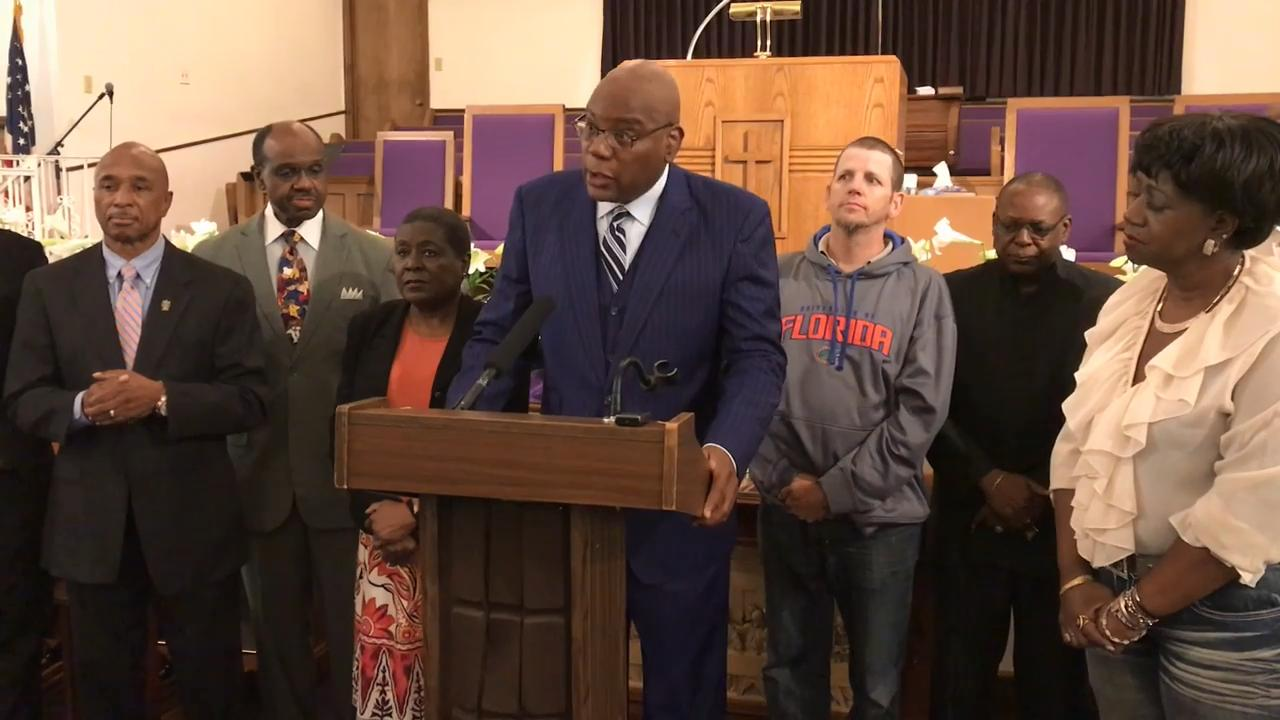 The Rev. R.B. Holmes of Bethel Missionary Baptist Church and other local faith and community leaders called on Gov. Rick Scott and the Cabinet to fix Florida's clemency system, which was found unconstitutional by a federal judge.