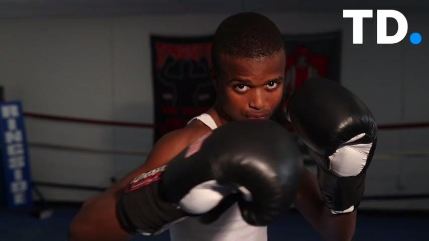 Aziz Ferguson talks about his love of boxing, and how getting in the ring got him away from trouble outside of it