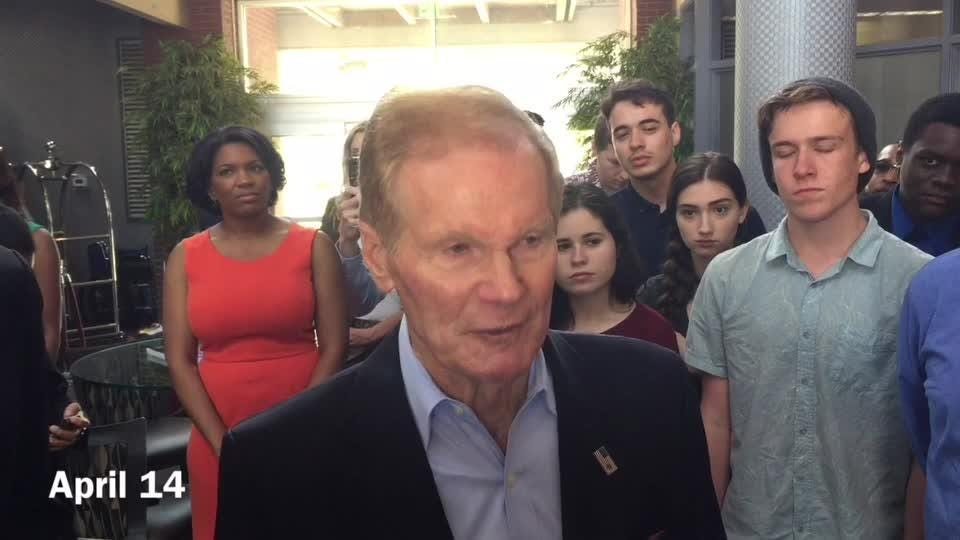 Sen. Bill Nelson said President Donald Trump let the cat out of the bag about an impending missile strike against Syria.