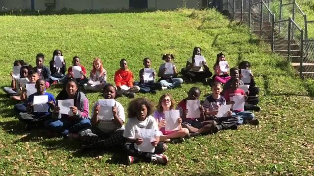 The students in Nancy Oakley's fourth grade class at Hartsfield Elementary School sent letters to Linda Brown's family after she died.