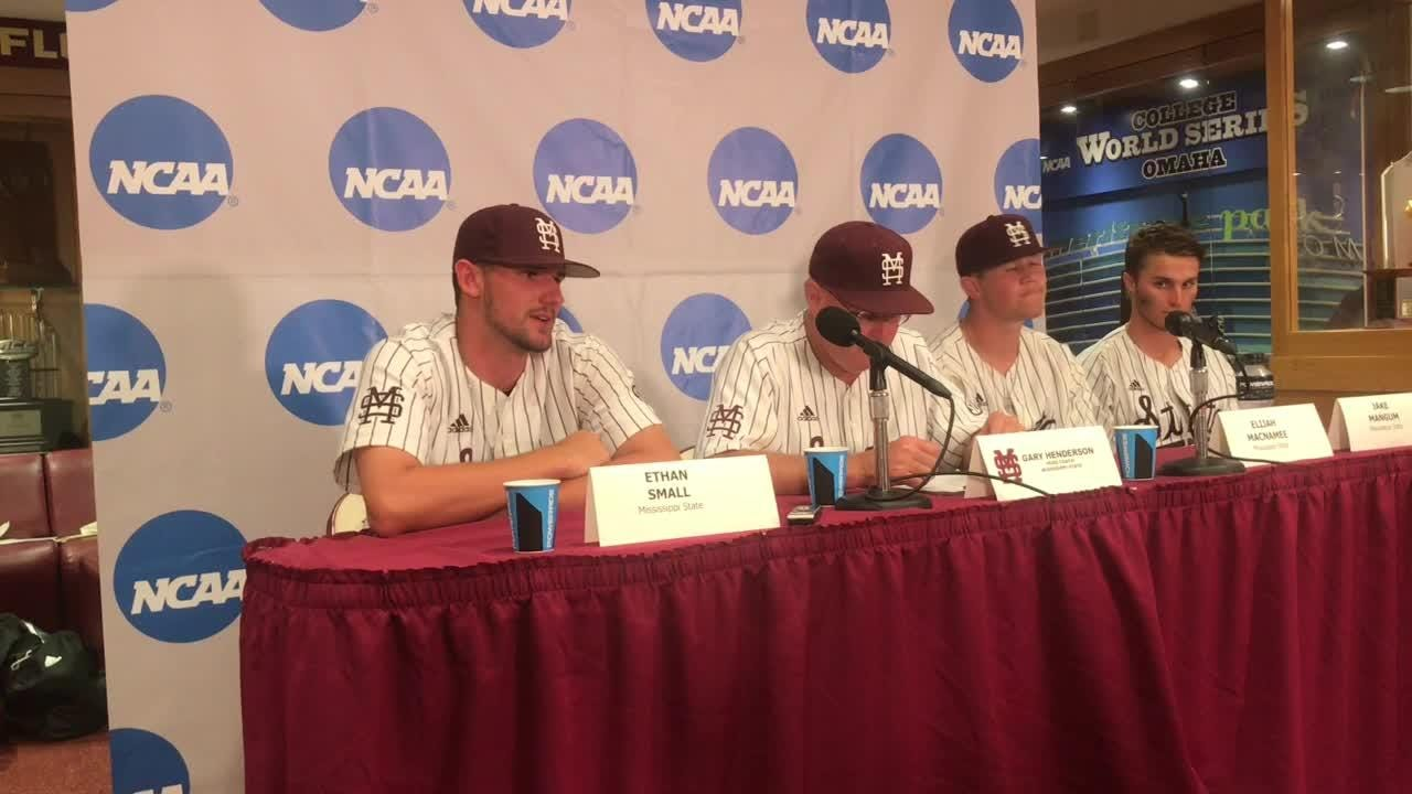Mississippi State coach Gary Henderson and players talk about walking off against Florida State.