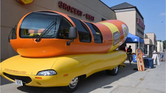 The 27-foot-long iconic Oscar Mayer Wienermobile is holding a hot dog cookout in Sioux Falls Friday at the Fareway on 41st Street and on Saturday at the Fareway on Sycamore Avenue from 10 a.m. to 3 p.m.