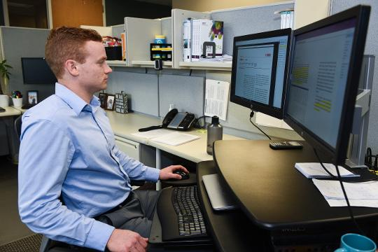 Dan Elmer, a college standout at Augustana University, explains why he decided to stay in South Dakota and manage the state's pension fund instead of taking a job on Wall Street. By Sam Caravana / Argus Leader