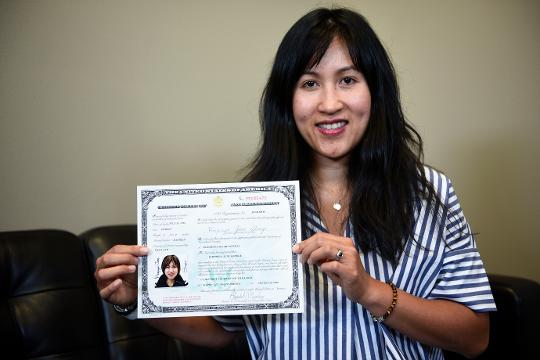 Sioux Falls resident June George talks about her path to becoming a U.S. citizen. By Sam Caravana / Argus Leader