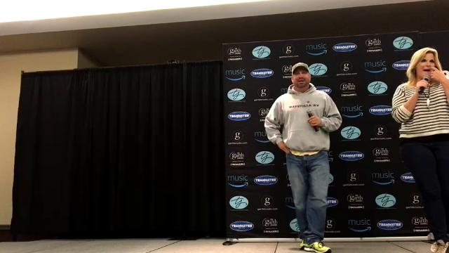 Garth Brooks got ahead of himself at a news conference in Sioux Falls and announced a tour stop in Seattle that hadn't been officially announced.