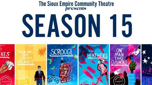 The Sioux Empire Community Theatre presents Season 15 at The Orpheum downtown. Performances run September through May.