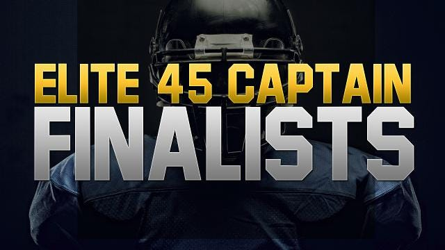2017 Elite 45 Captain: Meet the finalists