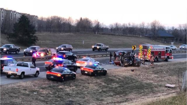 The Highway Patrol confirms one person died in a crash on Interstate 229 on Tuesday morning.