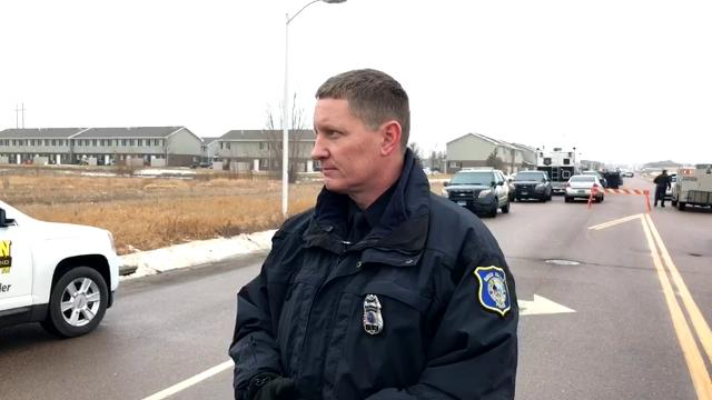 Police spokesman Sam Clemens says police are searching for a person of interest in connection with Friday's homicide.