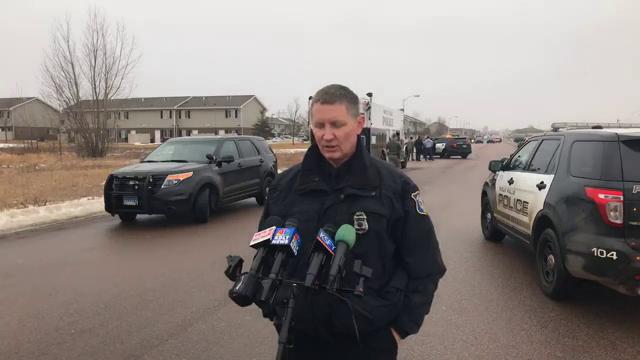 The Sioux Falls Police Department gives an update on a search that yields three arrests but the homicide suspect is still at large.