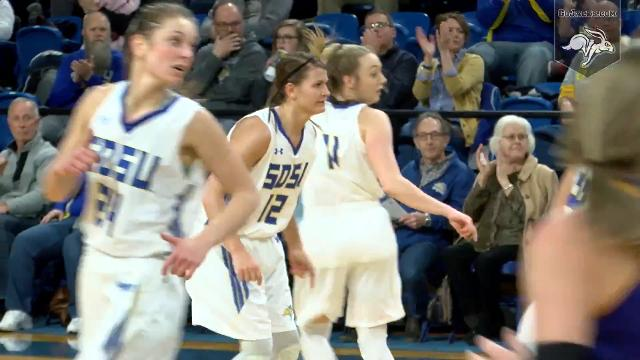 Macy Miller tied her career-high with 31 points and South Dakota State cruised to an 84-48 win vs. Western Illinois, holding the Fighting Leathernecks to their worst offensive output of the season. Courtesy SDSU