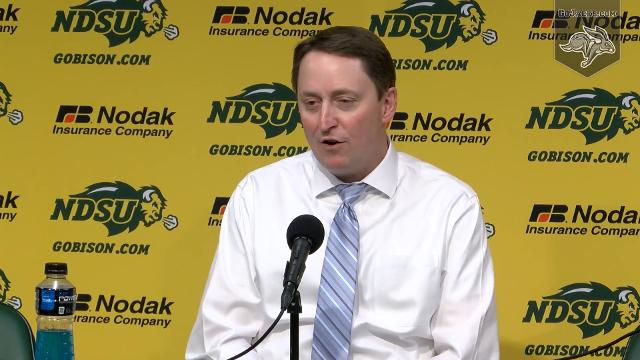 The post game press conference after South Dakota State defeats North Dakota State.