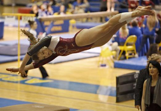 Madison gymnast Jenni Giles' dad, Chris, on watching his daughter compete.