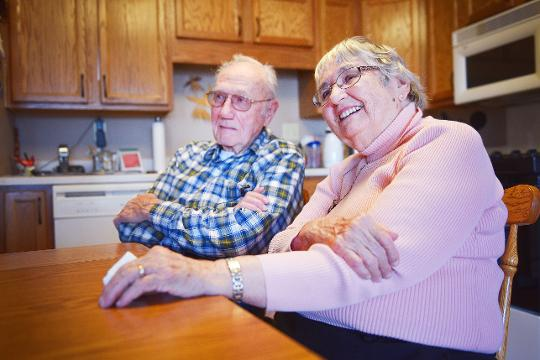 The Rev. Rodney Gist and his wife Doris talk about what they love about each other and how to maintain a successful relationship Thursday, Feb. 1, at their home in Sioux Falls. They will have been married 65 years this summer.