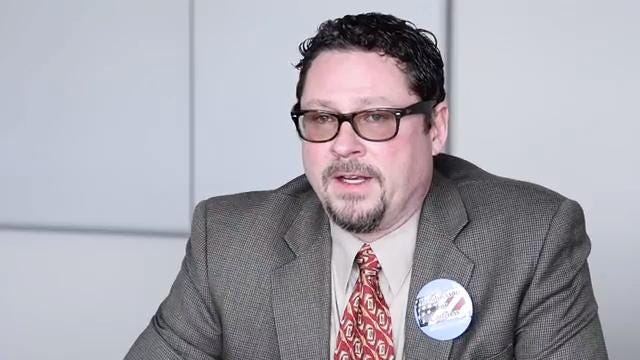 Aaron Aylward, chair of the South Dakota libertarian party,  and George Hendrickson, Libertarian candidate for U.S. House, talk about the struggles of getting your name on the ballot as member of a smaller political party.