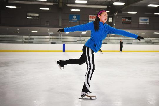 Emma Miller and Clare Carlson talk about why they love figure skating after Sioux Falls Figure Skating Club practice Tuesday, Feb. 13, at SCHEELS IcePlex in Sioux Falls.