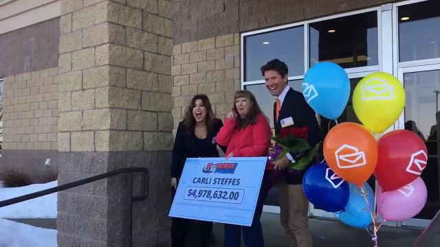 A Sioux Falls resident has won almost $5 million from Publisher's Clearing House. Carli Steffes got quite the surprise at work today.