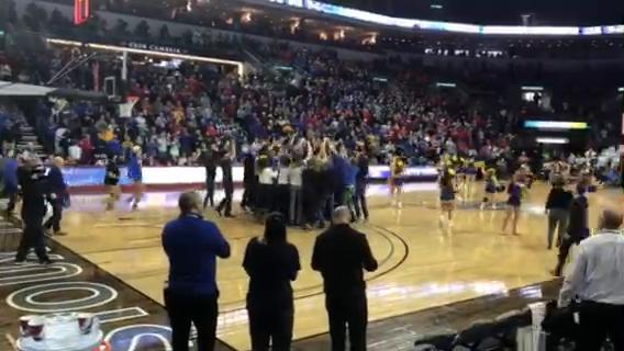 SDSU women fans storm the court after Jacks beat USD