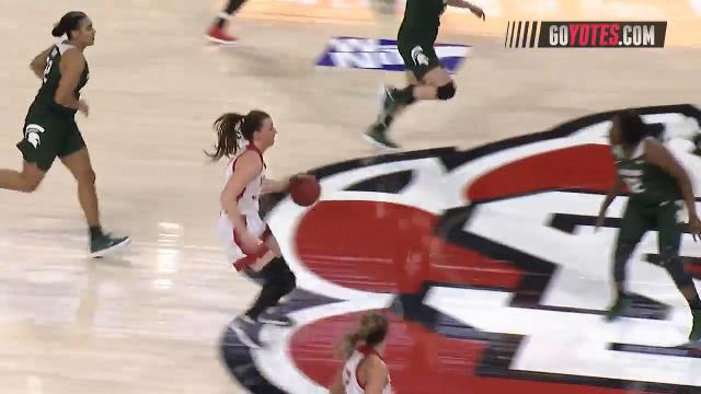 Highlights from the South Dakota Coyotes women's basketball team overtime win against the Michigan State Spartans.