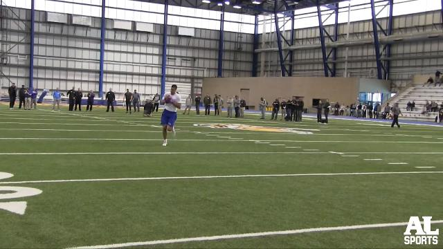 Interviews with Dallas Goedert, Jake Wieneke and Chris Streveler following Friday's Pro Day in Brookings.