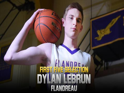 Flandreau senior Dylan LeBrun capped off his senior year by scoring his 2,000th career point, a moment made even more special by his younger brother's involvement.