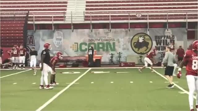 The USD Coyotes started practice on Tuesday. Mick Garry shows a bit of the scene.