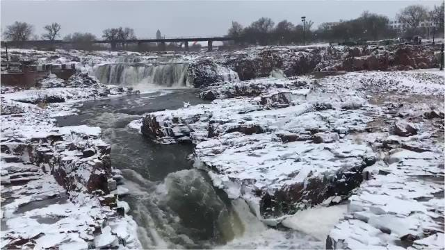 Sioux Falls got hit with some light snow on the first day of December.