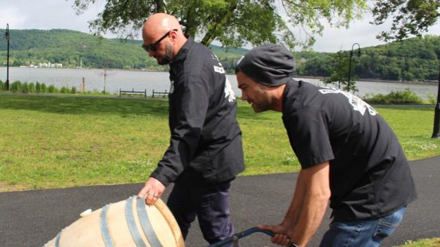 Jamie Bishop, brewmaster at Mill House Brewing Company, discuses the use of Hudson River water in beer. Video by Geoffrey Wilson/Poughkeepsie Journal.