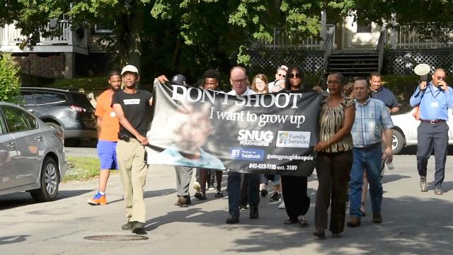 Video: City of Poughkeepsie SNUG march addresses gun violence