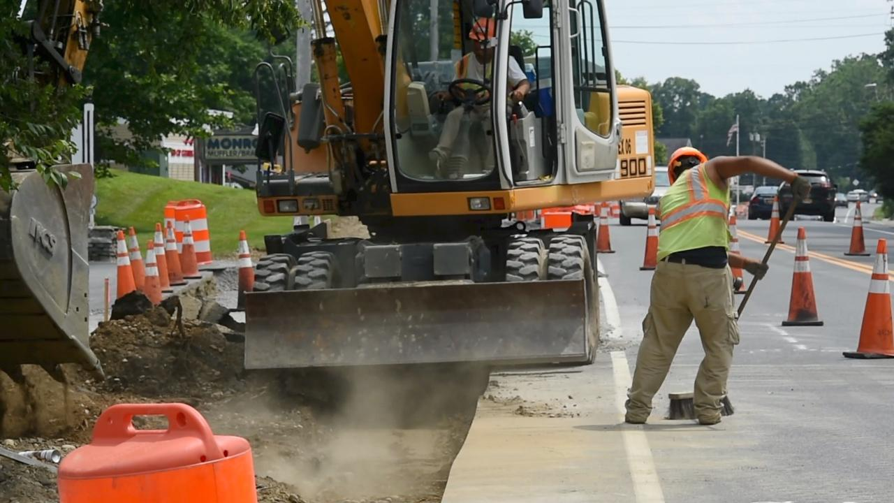 A look at the construction happening along Route 9 in Hyde Park.