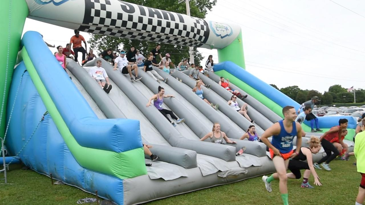Insane Inflatable Race Video