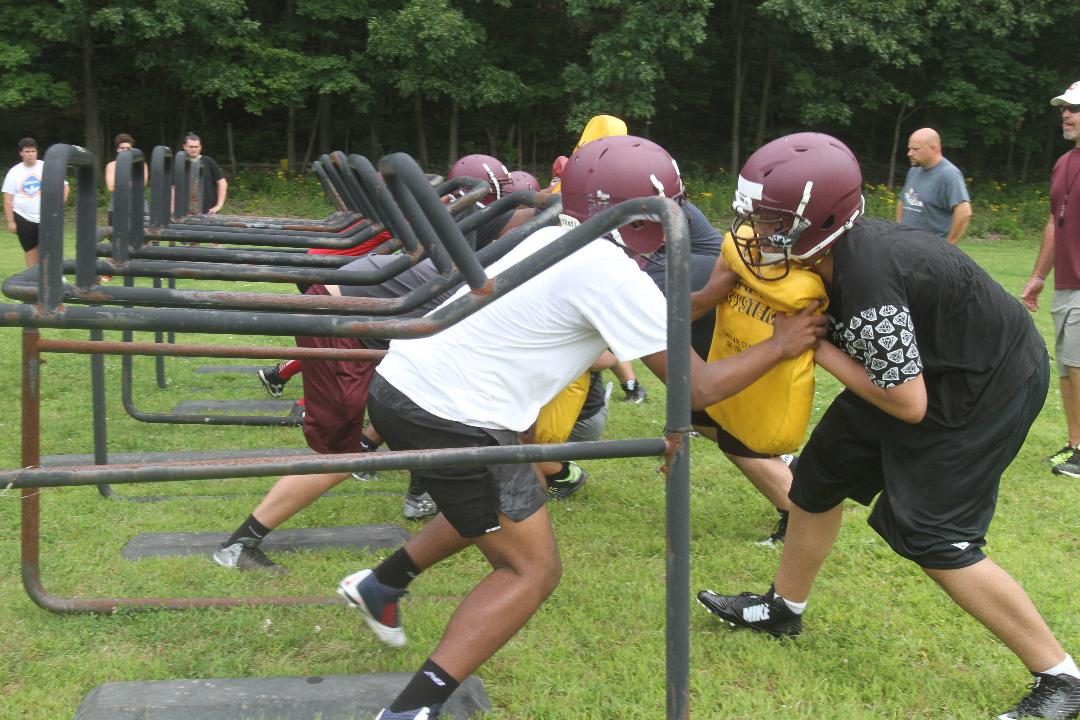 Video: First day of football practice at Arlington High School