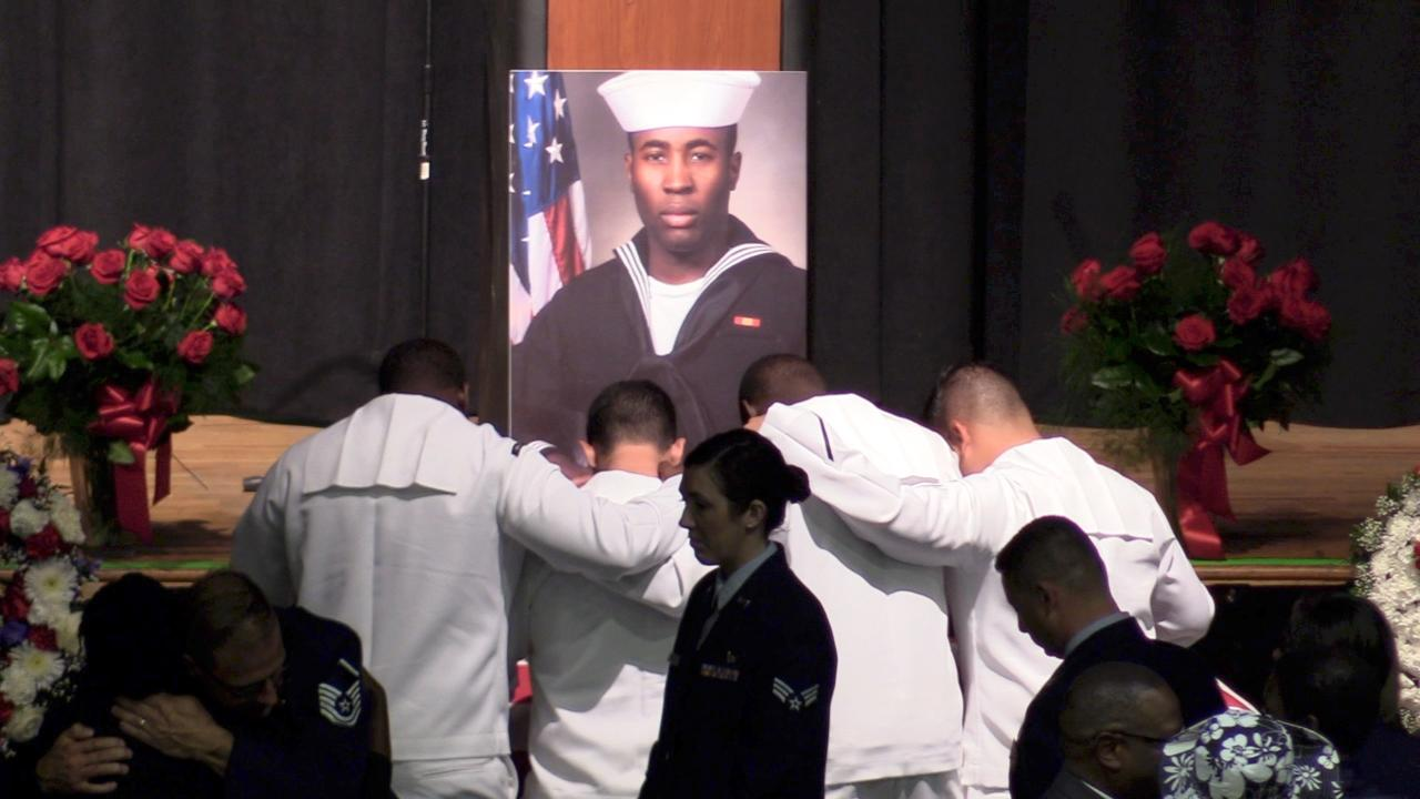 The funeral of Poughkeepsie sailor Corey Ingram brought hundreds to the Mid-Hudson Civic Center.