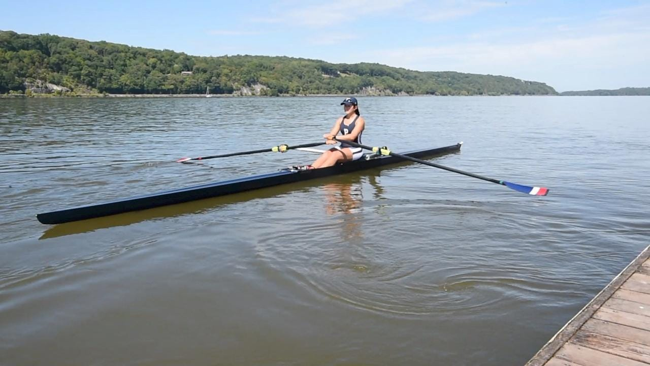 Assistant coach of the Marist rowing team and a Marist graduate, Julia Rigothi is passionate about rowing.