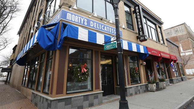 Charles Fells, owner of Morty's, is finalizing a deal to sell the Main Street deli to the Coppola's restaurant group. John Coppola, a partner with the restaurant group, hopes to open a new eatery at the location sometime in October. Video by Geoffrey Wilson.