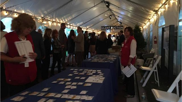 """The Walkway Over the Hudson nonprofit organization held its annual Starry Starry Night fundraiser Friday night. It was $175-a-ticket and raised money for the walkway, along with honoring """"great connectors"""" who have made contributions to the state park. Video by Jack Howland/Poughkeepsie Journal"""