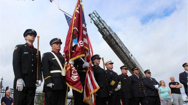 The Dutchess County Volunteer Firemens Association honored 93 former and current firefighters who died in the past year. Officials read each name paired with the ringing of a bell and laid a wreath. Video by Jack Howland/Poughkeepsie Journal