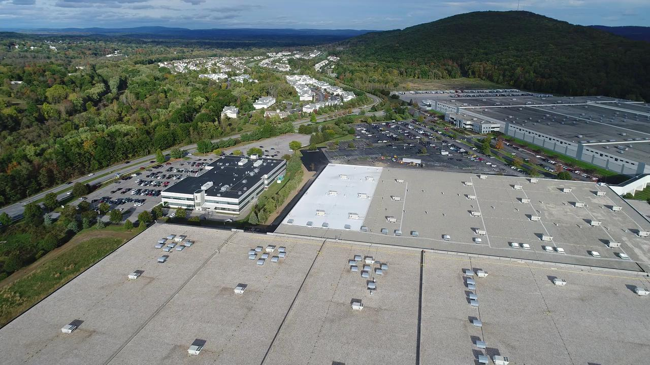 Drone video over the Gap Distribution Center in Fishkill Oct. 16, 2017. A large fire there in Sept. 2016 is still under investigation.