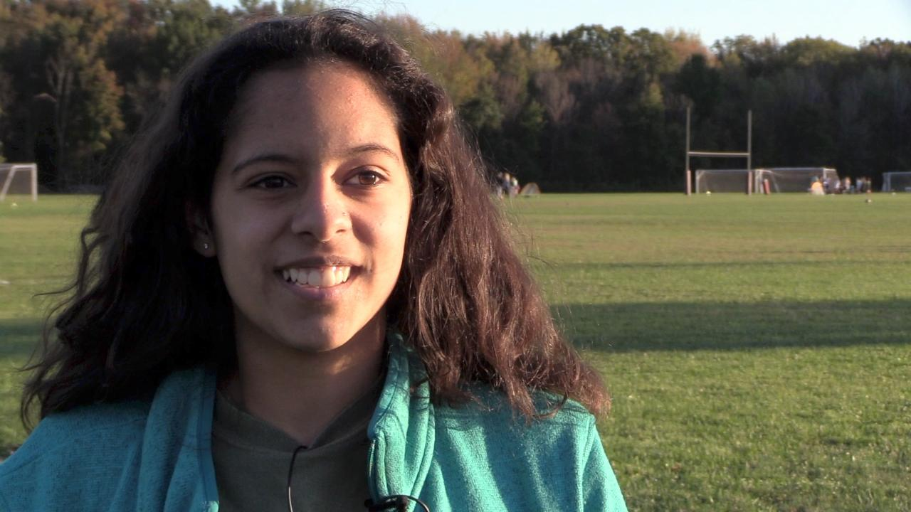 Madelynn Haynes, a senior at New Paltz High School, managed to get a 10-year-old plus two dogs out of the house.