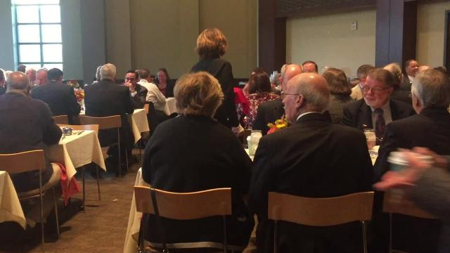 Shirley Adams, executive director of the Catharine Street Community Center, and Nick Citera, co-owner of the real estate firm Cosimo's Development Group and Cosimo's Restaurant Group, werepresented with President's Community Service Award at Marist College's 50th annual Community Breakfast.