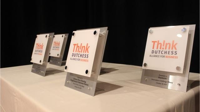 More than 100 people packed into the Grandview Hotel in Poughkeepsie on Thursday night to celebrate the honorees at the Think Dutchess Business Excellence Awards. The annual celebration recognizes area businesses and nonprofits that have made an impact in Dutchess County. Video by Jack Howland/Poughkeepsie Journal