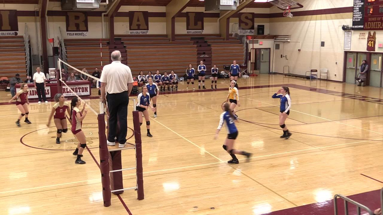 Volleyball match highlights and interviews of Arlington's win over Mahopac in the Class AA quarterfinals.